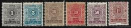French Morocco Scott # J27-9,J31-3 Used Postage Due, 1917 - Marocco (1891-1956)
