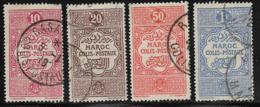 French Morocco Scott # Q2-3,Q6,Q8 Used Parcel Post, 1917 - Marocco (1891-1956)