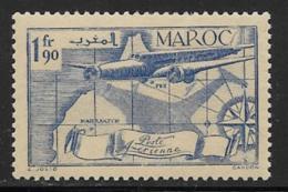 French Morocco Scott #C22 Mint Hinged Plane, Map , 1939 - Marocco (1891-1956)