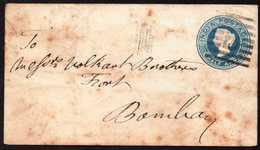 "British India Old Local Postal Stationery ""B"" Cancel - 1882-1901 Impero"