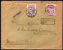 Latvia To Algeria Registered Cover 1930 Rare Destination - Lettonia