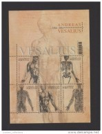 MINI SHEET PORTUGAL 2014 JOINT ISSUE BELGIUM  ANDREAS VESALIUS ANATOMY MEDICINE PYSICIAN ANATOMIE SANTÉ MÉDECINE - Blocchi & Foglietti