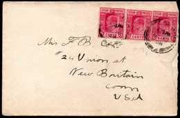 British Ceylon To USA Cover 1909 - Ceylon (...-1947)
