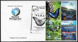 Paraguay Butterflies 2012 FDC - Papillons