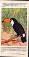 BIRDS Alcatraz Tucan (Rhamphasto Toco) Argentina Old Sheet Carlos A. Giberti & Cia. - Cuckoos & Turacos