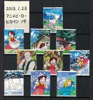 Japan 2013.01.23 Animation Hero & Heroine Series 19th(used) - Used Stamps