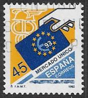 Spain SG3193 1992 European Single Market 45p Good/fine Used [40/32487/6D] - 1931-Today: 2nd Rep - ... Juan Carlos I