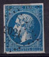 BELLE OBLITERATION PC 2021 De MOLINGES (JURA) Sur NAPOLEON N° 14 OBLITÉRÉ TB - 1853-1860 Napoléon III