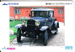 JAPAN - Old Car, Kansai Ticketcard Y2000, Used - Cars