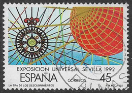 Spain SG2952 1988 Expo 92, Seville (3rd Issue) 45p Good/fine Used [40/32491/6D] - 1981-90 Used