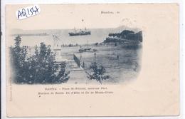 BASTIA- PLACE SAINT-NICOLAS- ILE D ELBE ET ILE DE MONTE-CRISTO- RARE CARTE PIONNIERE - Bastia