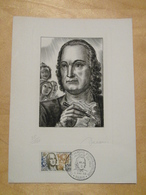 1963 - EPREUVE D'ARTISTE SIGNÉE PAR DECARIS Avec TIMBRE N° 1374 + GRAVURE DAVIEL CAD CONGRES D'OPHTALMOLOGIE YEUX - Artistenproeven