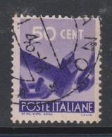 Italy Republic S 547 1945-48 Serie Democratica,50c Violet,used - 1946-60: Afgestempeld