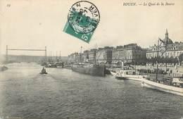 """/ CPA FRANCE 76 """"Rouen, Le Quai De La Bourse"""" - Rouen"""