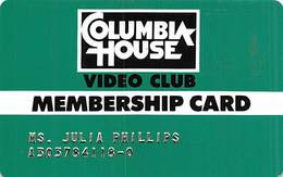 Columbia House Video Club Membership Card - Other