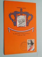 Koningin JULIANA Troonsafstand ( Nederland ) Anno 1980 / Achterkant Blanco ( Zie Foto's Voor Details ) ! - Familles Royales