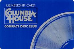 Columbia House Compact Disc Club Membership Card - Very Thin Plastic Card - Other Collections