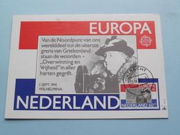 Koningin WILHELMINA 1 Sept 1941 ( Nederland ) Anno 1980 Stamp Utrecht ( Zie Foto's Voor Details ) ! - Familles Royales