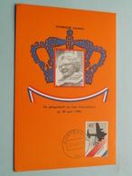 Koningin JULIANA Troonsafstand ( Nederland ) Anno 1980 Stamp Amsterdam / Blanco Achterkant ( Zie Foto's Voor Details ) ! - Familles Royales