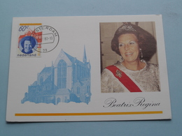 Inhuldiging H.M. Koningin BEATRIX 30 April 1980 ( Nederland ) Anno 1980 Stamp Amsterdam ( Zie Foto's Voor Details ) ! - Familles Royales