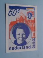 Inhuldiging H.M. Koningin BEATRIX ( Nederland ) Anno 1980 Stamp BLANCO Achterkant ( Zie Foto's Voor Details ) ! - Familles Royales