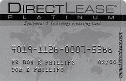 DirectLease Platinum Equipment & Technology Financing Card - Other