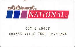 Entertainment National Membership Card - Other Collections