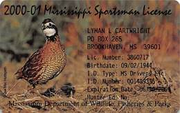 2000-01 Mississippi Sportsman License - Other Collections