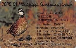 2000-01 Mississippi Sportsman License - Other