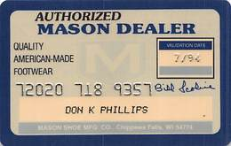 Authorized Mason Dealer Card - Quality American-Made Footwear - Other