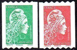 France Marianne L'Engagée Autoadhésif N° 1601 Et 1602 ** Roulettes Verte Et Rouge PRO - 2018-... Marianne L'Engagée