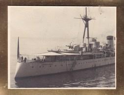 SANTANDER ESPAGNE  Bateau L'ALMIRANTE CERVERA 1929 Photo Amateur Format Environ 7,5 Cm X 5,5 Cm - Barcos