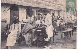Tunisie -  TUNIS -  Café De La Place Halfaouine - 1908 - Cafés
