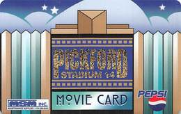 Pickford Stadium 14 Movie Card - Blank Turquoise Back - Other