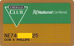 National Car Rental Emerald Club Card - Other