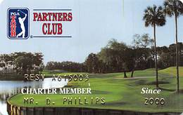 PGA Tour Partners Club Charter Member Card Copyright 1999 - Other