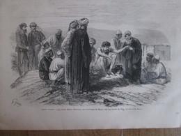 Gravure  1869  Haute Egypte   LE CHEIK  SELIM (santon)  HAON   Bords Du Nil - Alte Papiere