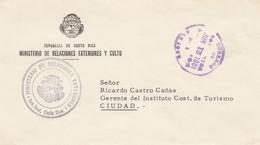 Costa Rica: 1961: Ministerio De Relaciones Exteriores Y Culto To Ciudad - Costa Rica