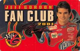 Official Jeff Gordon Fan Club Membership Card 2001 - Trading Cards