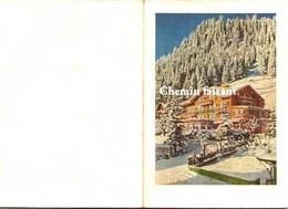 Menu Dîner De Noël - HÔTEL  Adelboden Suisse - Scans Recto-verso - Menus