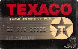 Texaco Star Of The American Road - Krediet Kaarten (vervaldatum Min. 10 Jaar)