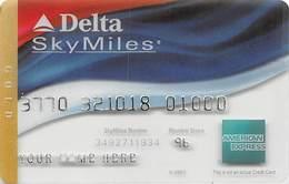 American Express Delta SkyMiles See-Thru Sample Card - Krediet Kaarten (vervaldatum Min. 10 Jaar)