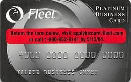Fleet Platinum Business Card - Sample Card With 0304S-PB-FP - Krediet Kaarten (vervaldatum Min. 10 Jaar)