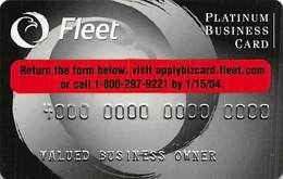 Fleet Platinum Business Card - Sample Card With 1103I-PB-LF - Credit Cards (Exp. Date Min. 10 Years)