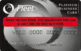 Fleet Platinum Business Card - Sample Card With 1103I-PB-LF - Krediet Kaarten (vervaldatum Min. 10 Jaar)