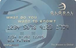 Global Cash Access Sample Card (blank Reverse) - Krediet Kaarten (vervaldatum Min. 10 Jaar)