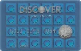 Discover Platinum Blue See-Thru Sample Card (blank Reverse) - Krediet Kaarten (vervaldatum Min. 10 Jaar)