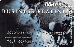 Miles One Business Platinum Sample Card (blank Reverse) With SBP15 - Cartes De Crédit (expiration Min. 10 Ans)