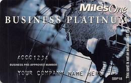 Miles One Business Platinum Sample Card (blank Reverse) With SBP18 - Krediet Kaarten (vervaldatum Min. 10 Jaar)