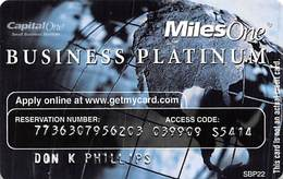 CapitalOne MilesOne Business Platinum Sample Card (blank Reverse) With SBP22 - Cartes De Crédit (expiration Min. 10 Ans)